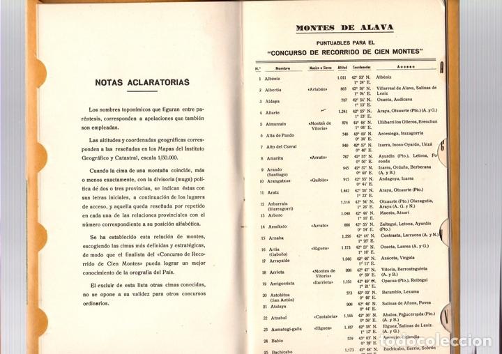 Coleccionismo deportivo: CATALOGO DE CIMAS PARA EL RECORRIDO DE LOS CIEN MONTES. REGLAMENTO DEL CONCURSO. PYRENAICA, 1956 - Foto 3 - 133821519