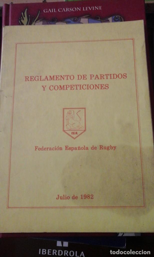REGLAMENTO DE PARTIDOS Y COMPETICIONES DE RUGBY (MADRID, 1983) (Coleccionismo Deportivo - Libros de Deportes - Otros)