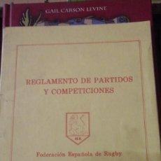 Coleccionismo deportivo: REGLAMENTO DE PARTIDOS Y COMPETICIONES DE RUGBY (MADRID, 1983). Lote 134772726
