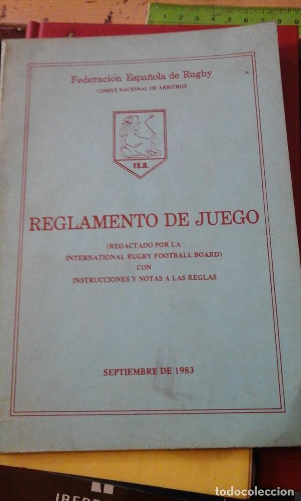 REGLAMENTO DEL JUEGO DE RUGBY (MADRID, 1983) (Coleccionismo Deportivo - Libros de Deportes - Otros)
