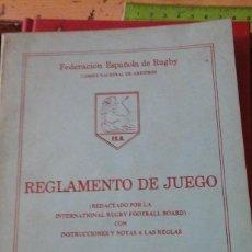 Coleccionismo deportivo: REGLAMENTO DEL JUEGO DE RUGBY (MADRID, 1983). Lote 134772806