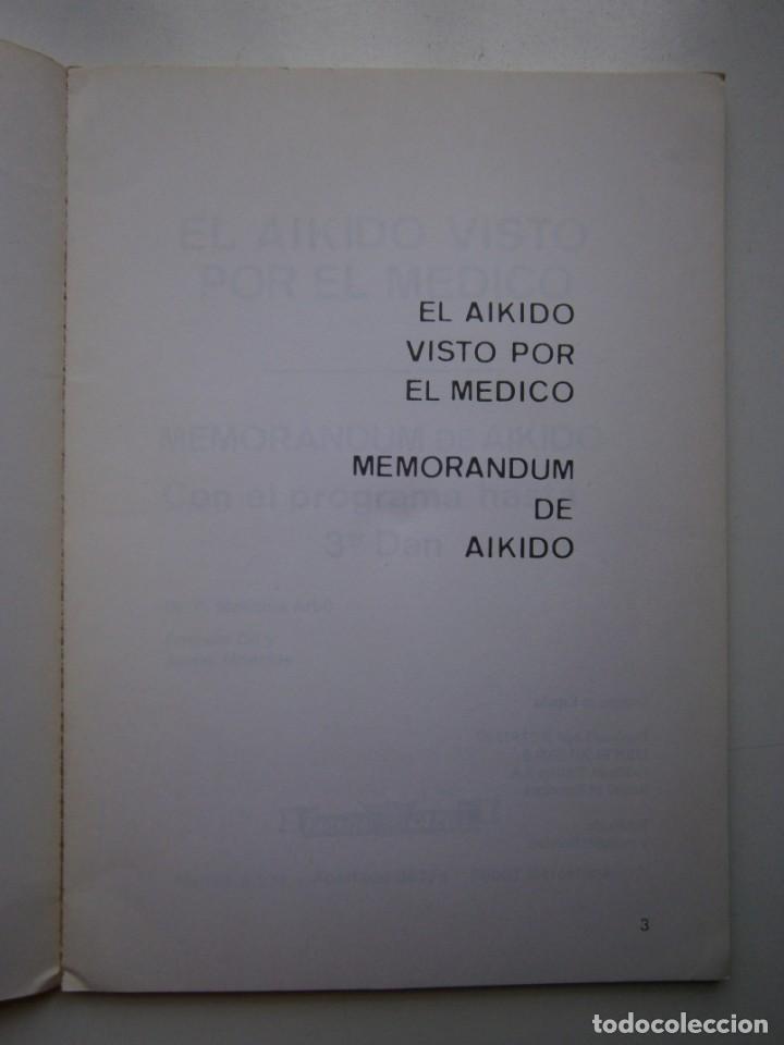 Coleccionismo deportivo: EL AIKIDO VISTO POR EL MEDICO ALAS 1987 - Foto 9 - 135468154