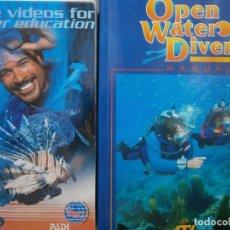 Coleccionismo deportivo: OPEN WATER DIVER MANUAL MAS CURSO DE BUCEO EN VIDEO ROBERT CLARK OPEN WATER DIVER MANUAL MAS CURSO. Lote 135468294