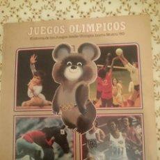 Coleccionismo deportivo: JUEGOS OLIMPICOS -HISTORIA DE LOS JUEGOS DESDE OLIMPIA HASTA MOSCU 1980. Lote 138944626