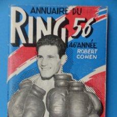 Coleccionismo deportivo: BOXEO - ANNUAIRE DU RING - 1955-56. Lote 141189138