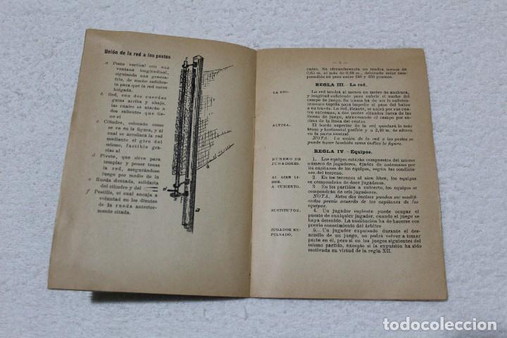 Coleccionismo deportivo: REGLAMENTO DE BALON VOLEA. ESCUELA CENTRAL DE EDUCACIÓN FISICA - AÑO 1943 - Foto 3 - 141591214