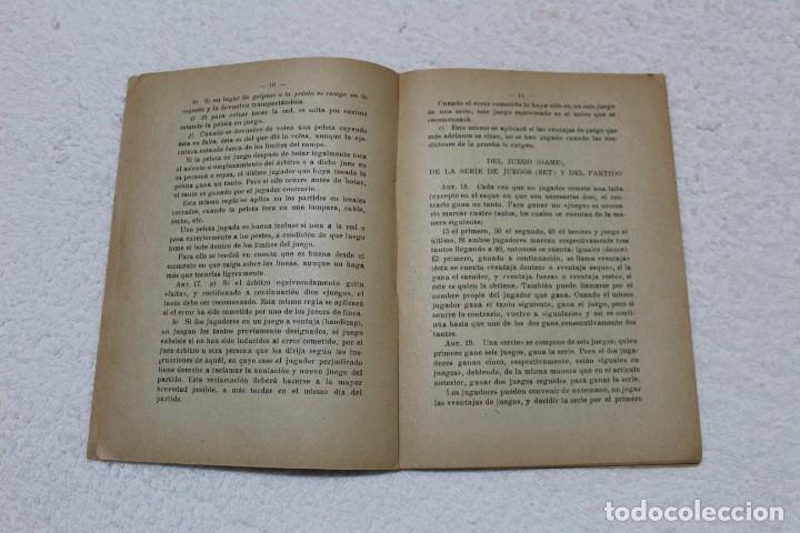 Coleccionismo deportivo: REGLAMENTO DE TENIS. ESCUELA CENTRAL DE EDUCACIÓN FISICA - AÑO 1943 - Foto 3 - 141595414