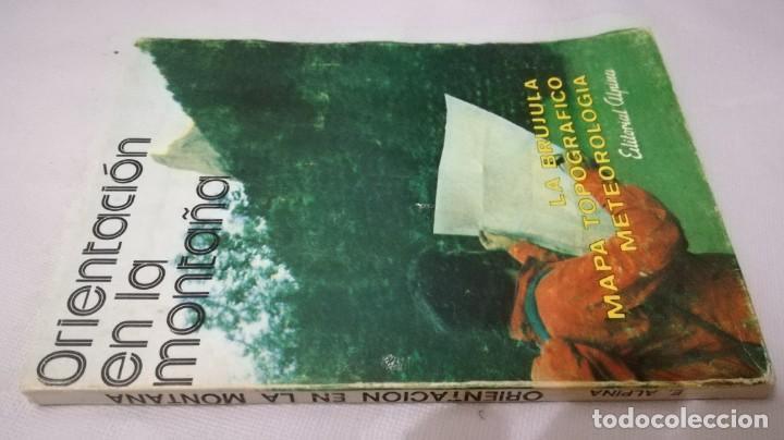 ORIENTACION EN LA MONTAÑA- LA BRUJULA-MAPA TOPOGRAFICO-METEOROLOGÍA (Coleccionismo Deportivo - Libros de Deportes - Otros)