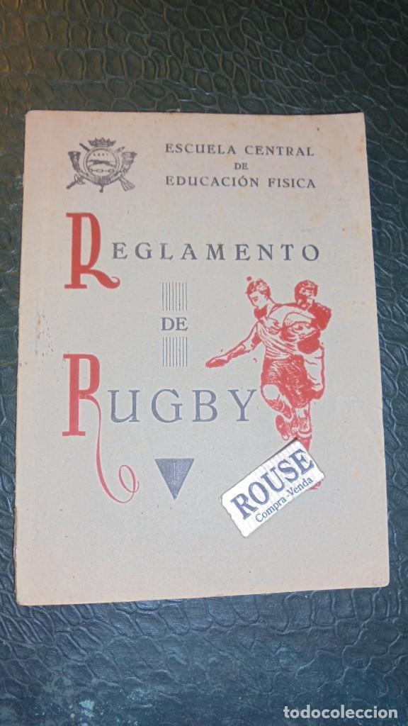 RUGBY - LIBRO , ESCUELA CENTRAL DE EDUCACION FISICA REGLAMENTO DE RUGBY 1944 - 40 PAG. (Coleccionismo Deportivo - Libros de Deportes - Otros)