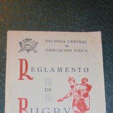 Coleccionismo deportivo: RUGBY - LIBRO , ESCUELA CENTRAL DE EDUCACION FISICA REGLAMENTO DE RUGBY 1944 - 40 PAG. . Lote 141760438