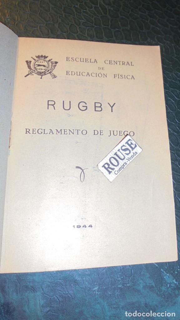 Coleccionismo deportivo: RUGBY - LIBRO , ESCUELA CENTRAL DE EDUCACION FISICA REGLAMENTO DE RUGBY 1944 - 40 PAG. - Foto 2 - 141760438