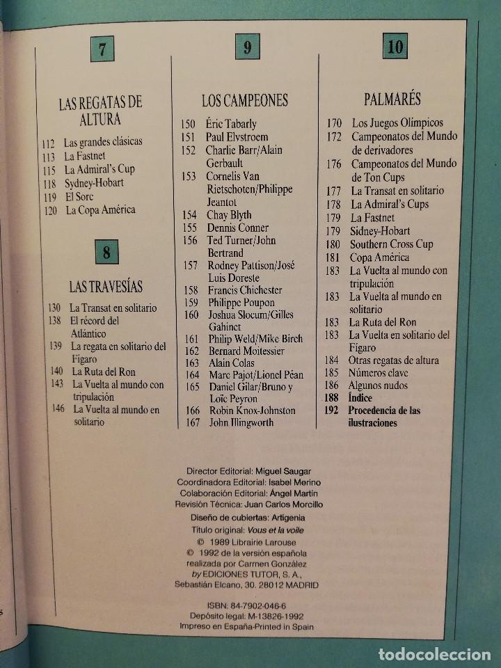 Coleccionismo deportivo: MANUAL TUTOR DE LA VELA (GILLES COZANET) - Foto 4 - 142134510