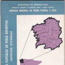 Coleccionismo deportivo: COTOS FLUVIALES DE PESCA DEPORTIVA. 2ª REGION. CAMPAÑA 1963. MINISTERIO DE AGRICULTURA. Lote 143906102