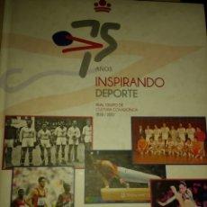 Coleccionismo deportivo: 75 AÑOS INSPIRANDO DEPORTE. REAL GRUPO DE CULTURA COVADONGA. 1838 / 2013. EDITORIAL PRENSA ASTURIANA. Lote 143920658