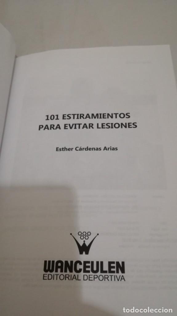 Coleccionismo deportivo: 101 ENTRENAMIENTOS PARA EVITAR LESIONES/ ETHER CARDENAS ARIAS/ WANCEULEN - Foto 4 - 144449638