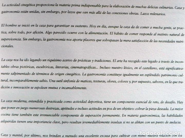 Coleccionismo deportivo: DE LA CAZA Y SU GASTRONOMÍA CON CHIVAS REGAL LIBRO CAZADORES PERROS ENTREVIST GERENTE DE ARMAS ARZAK - Foto 3 - 144573726