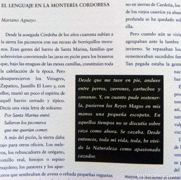 Coleccionismo deportivo: DE LA CAZA Y SU GASTRONOMÍA CON CHIVAS REGAL LIBRO CAZADORES PERROS ENTREVIST GERENTE DE ARMAS ARZAK - Foto 9 - 144573726