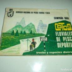 Coleccionismo deportivo: GUIA DE COTOS FLUVIALES DE PESCA . 1966. Lote 145400554