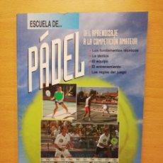 Coleccionismo deportivo: ESCUELA DE... PÁDEL DEL APRENDIZAJE A LA COMPETICIÓN AMATEUR (CARLOS GONZÁLEZ CARVAJAL). Lote 147621578