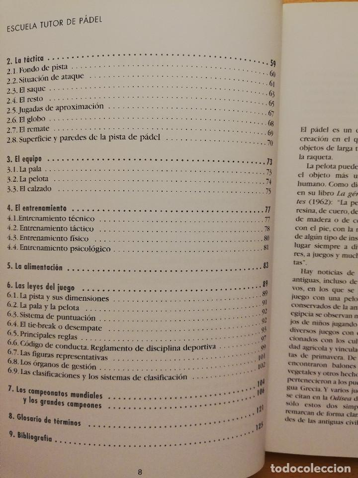 Coleccionismo deportivo: ESCUELA DE... PÁDEL DEL APRENDIZAJE A LA COMPETICIÓN AMATEUR (CARLOS GONZÁLEZ CARVAJAL) - Foto 5 - 147621578
