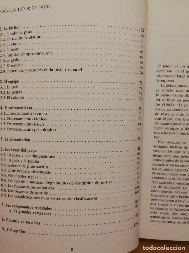 Coleccionismo deportivo: ESCUELA DE... PÁDEL DEL APRENDIZAJE A LA COMPETICIÓN AMATEUR (CARLOS GONZÁLEZ CARVAJAL) - Foto 6 - 147621578
