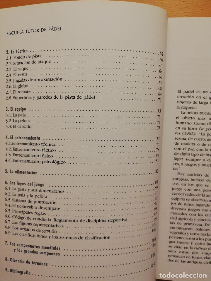 Coleccionismo deportivo: ESCUELA DE... PÁDEL DEL APRENDIZAJE A LA COMPETICIÓN AMATEUR (CARLOS GONZÁLEZ CARVAJAL) - Foto 7 - 147621578