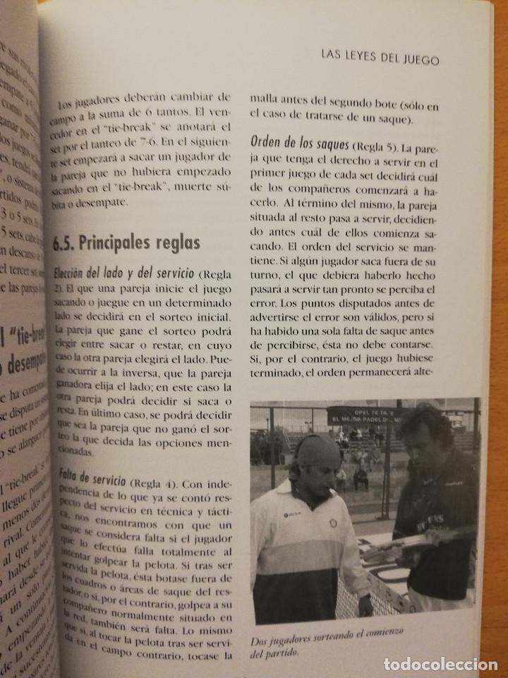 Coleccionismo deportivo: ESCUELA DE... PÁDEL DEL APRENDIZAJE A LA COMPETICIÓN AMATEUR (CARLOS GONZÁLEZ CARVAJAL) - Foto 8 - 147621578