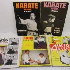 Coleccionismo deportivo: LOTE 5 LIBROS AIKIDO Y KARATE, SATO NAGASHIMA, J. SANTOS NALDA, M. NAKAYAMA. Lote 146038266