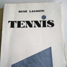 Coleccionismo deportivo: RENE LACOSTE. TENNIS. GRASSET 1928. INTONSO.. Lote 148803292