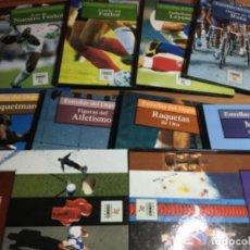 Coleccionismo deportivo: COLECCIÓN COMPLETA DE 10 TOMOS DE ESTRELLAS DEL DEPORTE. Lote 149504862