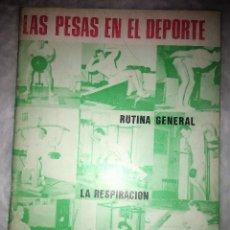 Coleccionismo deportivo: LAS PESAS EN EL DEPORTE - ALAS 1989 - CULTURISMO - MANUAL DE MUSCULACION. Lote 150703726