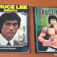 Coleccionismo deportivo: LOTE DE 2 LIBROS BRUCE LEE PRODUCCIONES EDITORIALES.. Lote 150972798