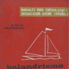 Coleccionismo deportivo: BALANDRISMO, ELOY M. PASTORIZA. Lote 152366018