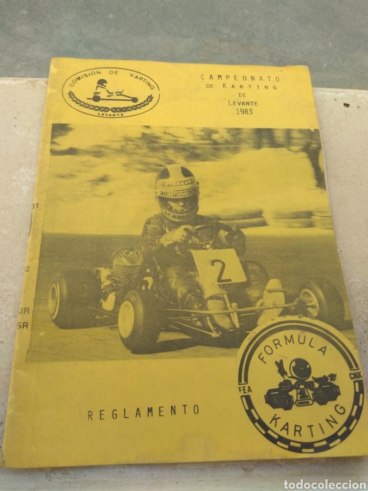 ANTIGUO REGLAMENTO DEL CAMPEONATO DE KARTING DE LEVANTE 1983 (Coleccionismo Deportivo - Libros de Deportes - Otros)