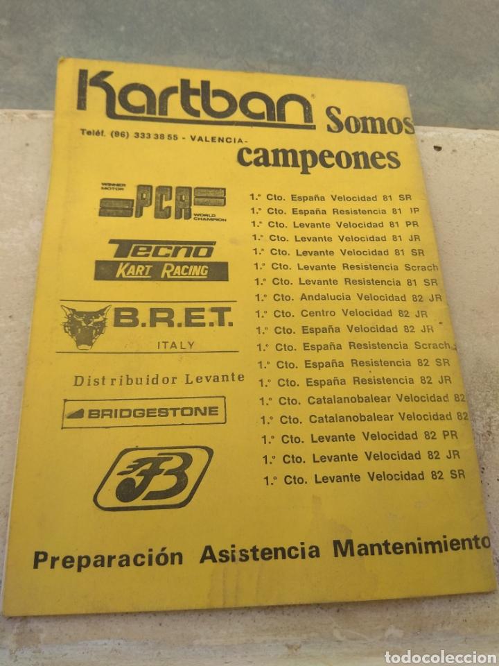 Coleccionismo deportivo: Antiguo Reglamento del Campeonato de Karting de Levante 1983 - Foto 2 - 153698901