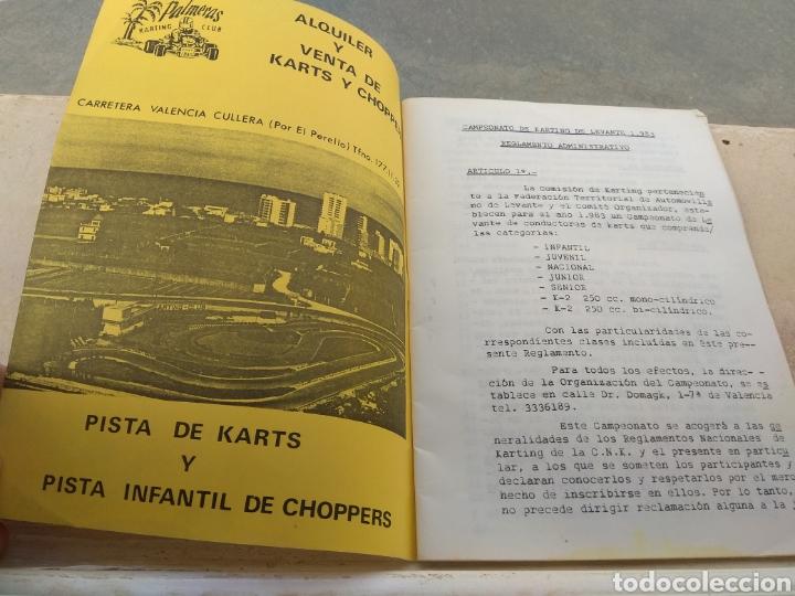 Coleccionismo deportivo: Antiguo Reglamento del Campeonato de Karting de Levante 1983 - Foto 3 - 153698901