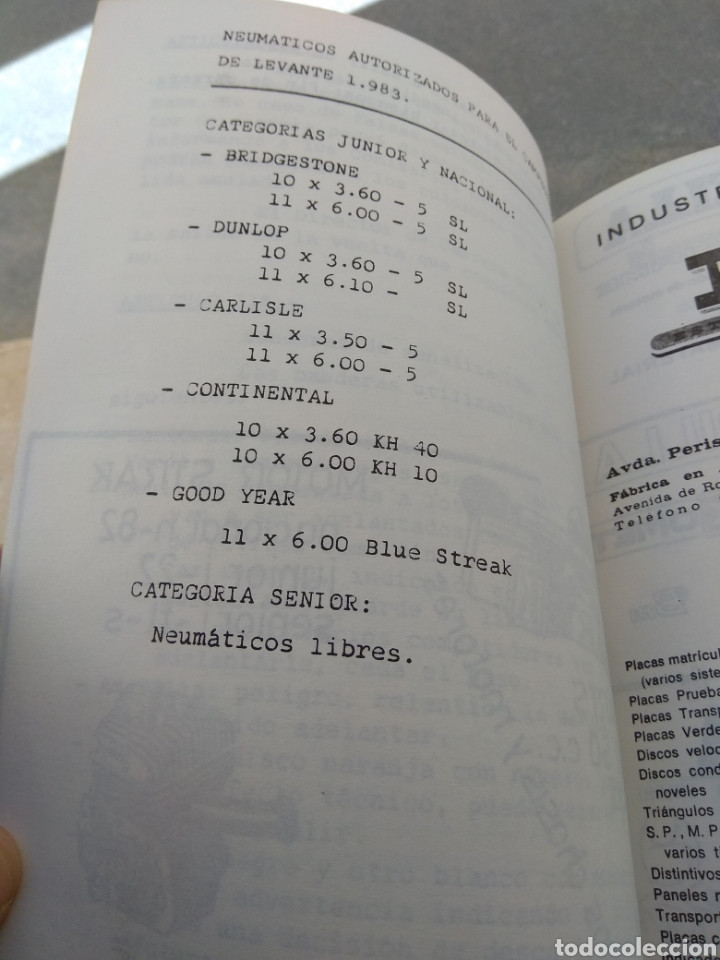 Coleccionismo deportivo: Antiguo Reglamento del Campeonato de Karting de Levante 1983 - Foto 6 - 153698901