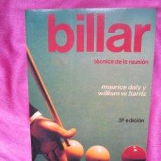 Coleccionismo deportivo: BILLAR . TECNICA DE LA REUNION / MAURICE DALY. Lote 153955558