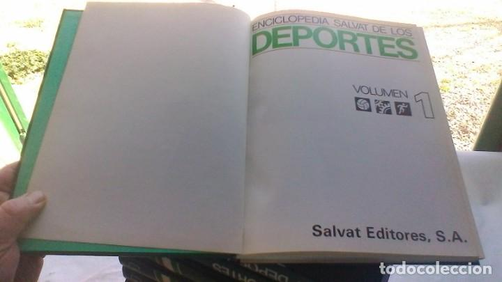 Coleccionismo deportivo: ENCICLOPEDIA SALVAT DE LOS DEPORTES - 12 TOMOS - VER FOTOS INDICES CONTENIDO - Foto 7 - 156676030