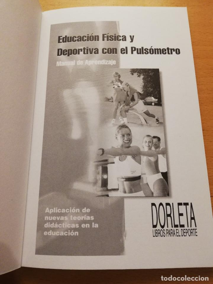 Coleccionismo deportivo: EDUCACIÓN FÍSICA Y DEPORTIVA CON EL PULSÓMETRO. MANUAL DE APRENDIZAJE - Foto 2 - 156785094