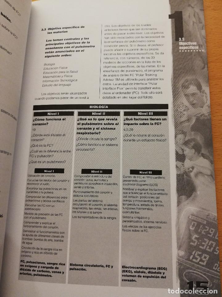 Coleccionismo deportivo: EDUCACIÓN FÍSICA Y DEPORTIVA CON EL PULSÓMETRO. MANUAL DE APRENDIZAJE - Foto 9 - 156785094