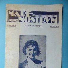 Coleccionismo deportivo: REVISTA MARE NOSTRUM DE NATACION - Nº 9, BARCELONA - AÑO 1931. Lote 158125510