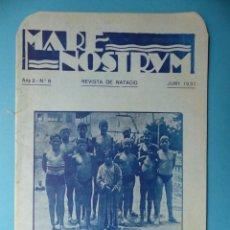 Coleccionismo deportivo: REVISTA MARE NOSTRUM DE NATACION - Nº 8, BARCELONA - AÑO 1931. Lote 158125914