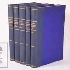 Coleccionismo deportivo: 5 TOMOS CON BOLETINES ENCUADERNADOS - BUTLLETÍ CENTRE EXCURSIONISTA DE CATALUNYA, AÑOS 1904-1908. Lote 158689002