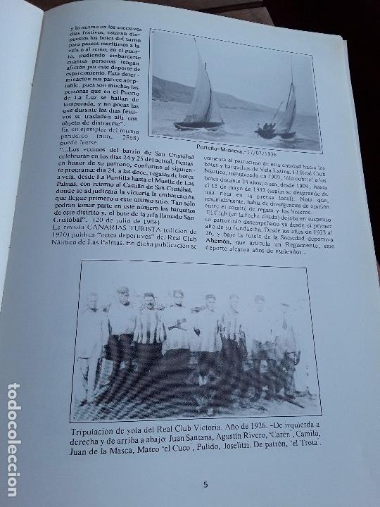 Coleccionismo deportivo: Semblanza histórica de los botes de la vela latina. Canarias, 1990. Muchas fotos. Único en tc. - Foto 3 - 161582082