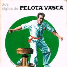 Coleccionismo deportivo: SOS SIGLOS DE PELOTA VASCA. EN DEFENSA DEL JUEGO DEL REBOTE POR ENRIQUE ABRIL. VER INDICE. Lote 162392862
