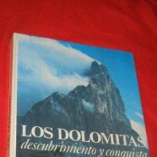 Coleccionismo deportivo: LOS DOLOMITAS. DESCUBRIMIENTO Y CONQUISTA, DE HERMANN FRASS - ED.RM 1979. Lote 162583002