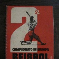 Coleccionismo deportivo: BEISBOL-BARCELONA JULIO 1955-CATALOGO CON MUCHAS FOTOS-VER FOTOS-(V-16.778). Lote 162772254