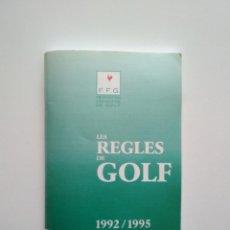 Coleccionismo deportivo: LES REGLES DU GOLF (IDIOMA FRANCÉS). Lote 164791038