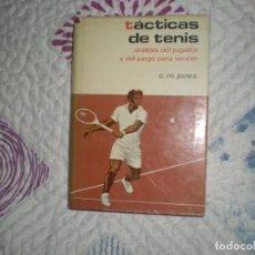 Coleccionismo deportivo: TÁCTICAS DEL TENIS;C.M.JONES;HISPANO EUROPEA 1973. Lote 164959394